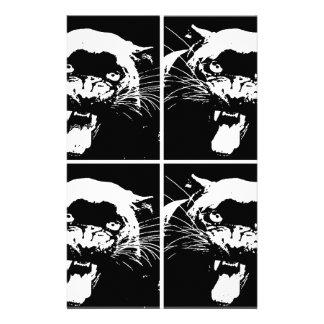 Black & White Jaguar Stationery