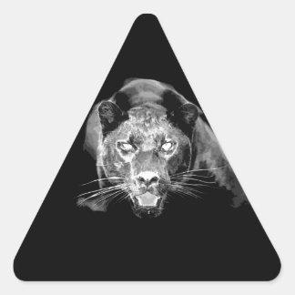 Black & White Jaguar Triangle Sticker