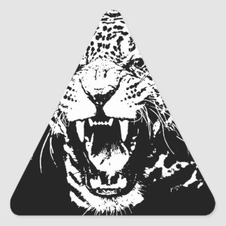 Black & White Jaguar Sticker