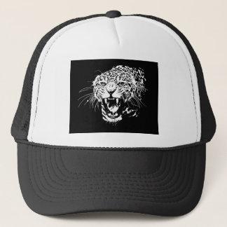 Black & White Jaguar Trucker Hat