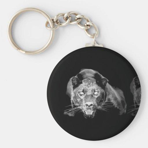 Black & White Jaguar -Wild Cats Key Chains