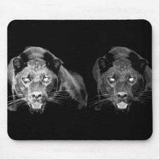 Black & White Jaguar -Wild Cats Mousepads