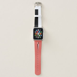 Black & White Jesus Fish Sword and Stripe Apple Watch Band