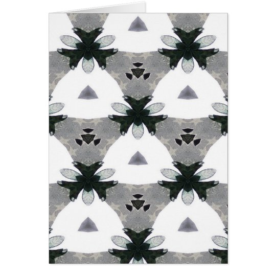 Black & White Kaleidoscope Blank Card