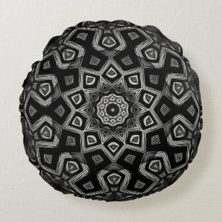 Black & White Kaleidoscope Pillow