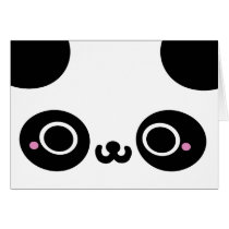 Black White Kawaii Panda Face