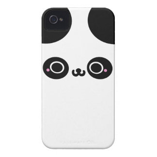 Black White Kawaii Panda Face iPhone 4 Case