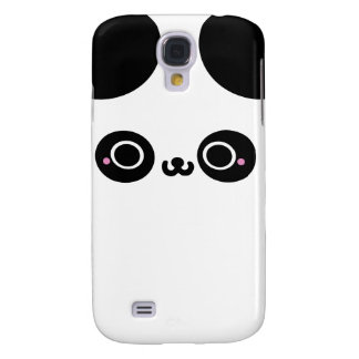 Black White Kawaii Panda Face Samsung Galaxy S4 Case