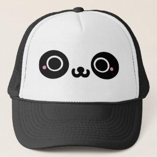 Black White Kawaii Panda Face Trucker Hat