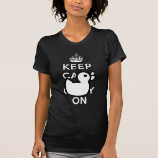 Black White Keep Calm Rubber Duck Humor Shirt