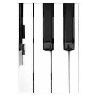 Black White Keys Music Keyboard Dry Erase Board