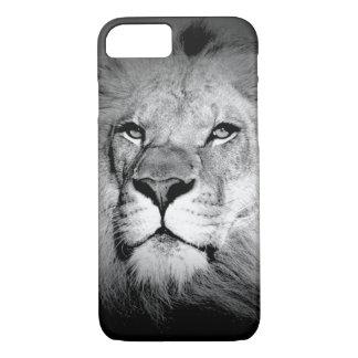 Black & White King Lion Eyes iPhone 7 Case