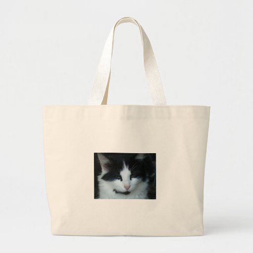 Black & White Kitty Cat Canvas Bags