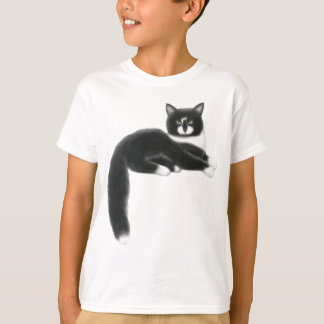 Black & White Kitty Cat Kids T-Shirt