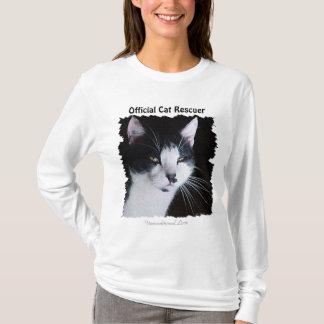 Black & White Kitty Cat-lover Pet Rescue Design T-Shirt