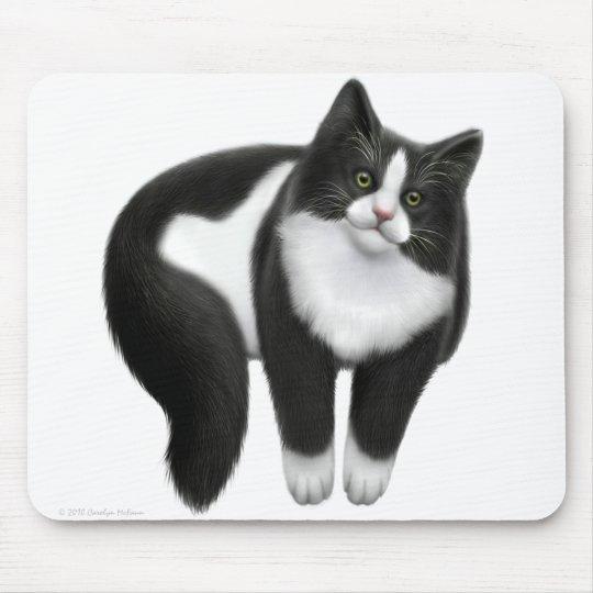 Black & White Kitty Cat Mousepad