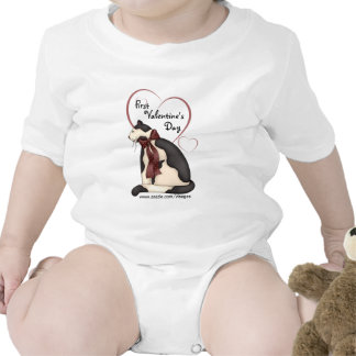 Black & White Kitty Cat w/Hearts Baby Shirts