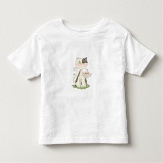 Black & White Kitty w/ Flower Toddler T-shirt