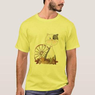 Black & White Kitty w/ Wheel T-Shirt