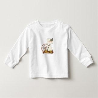 Black & White Kitty w/ Wheel Toddler T-shirt