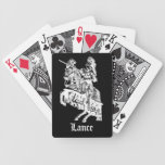 Black & White Knight Custom Playing Cards