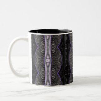 black white lace Two-Tone coffee mug