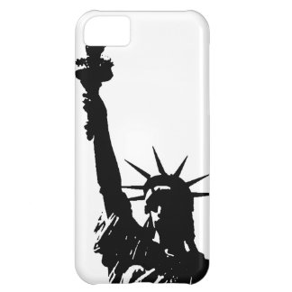 Black & White Lady Liberty Silhouette iPhone 5C Cases
