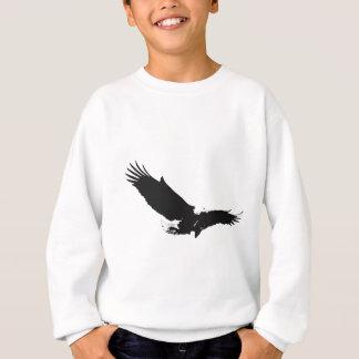 Black & White Landing Eagle