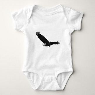 Black & White Landing Eagle Baby Bodysuit