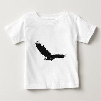 Black & White Landing Eagle Baby T-Shirt