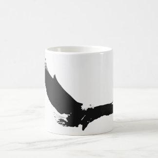 Black & White Landing Eagle Coffee Mug