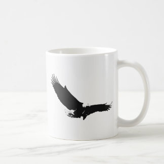 Black & White Landing Eagle Coffee Mug