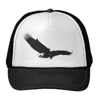 Black & White Landing Eagle Trucker Hat