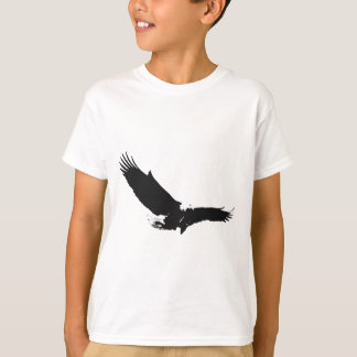 Black & White Landing Eagle T-Shirt