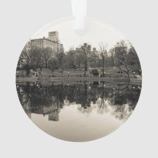 Black & White Landscape in Central Park Ornament