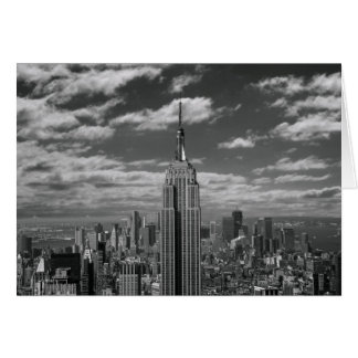 Black & White landscape of New York City skyline Greeting Card