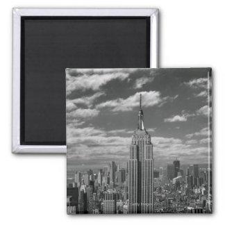Black & White landscape of New York City skyline Refrigerator Magnet