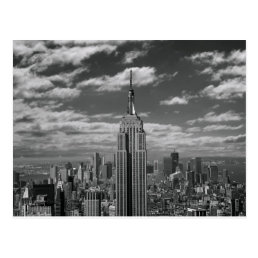 Black & White landscape of New York City skyline Postcard