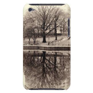 Black & White Landscape Winter Tree - Central Park iPod Case-Mate Case