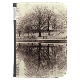 Black & White Landscape Winter Tree - Central Park Case For Kindle