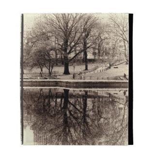 Black & White Landscape Winter Tree - Central Park iPad Folio Cases
