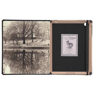 Black & White Landscape Winter Tree - Central Park iPad Cover