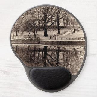 Black & White Landscape Winter Tree - Central Park Gel Mousepad