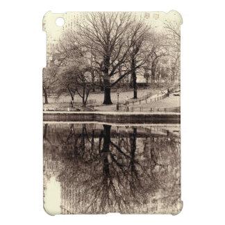 Black & White Landscape Winter Tree - Central Park iPad Mini Covers