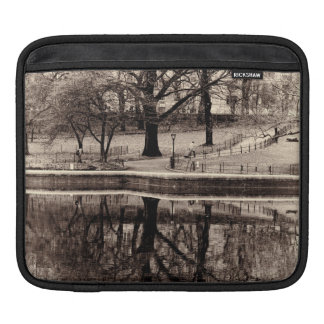 Black & White Landscape Winter Tree - Central Park Sleeves For iPads