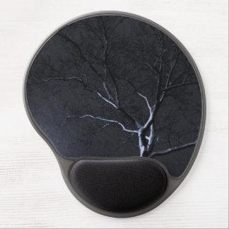 Black & White Landscape Winter Tree Gel Mousepad