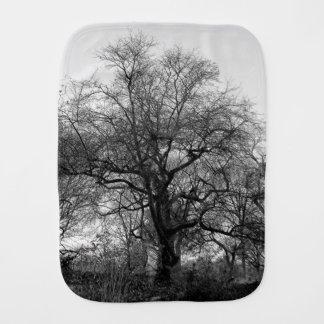 Black & White Landscape Winter Tree in Central Par Burp Cloths