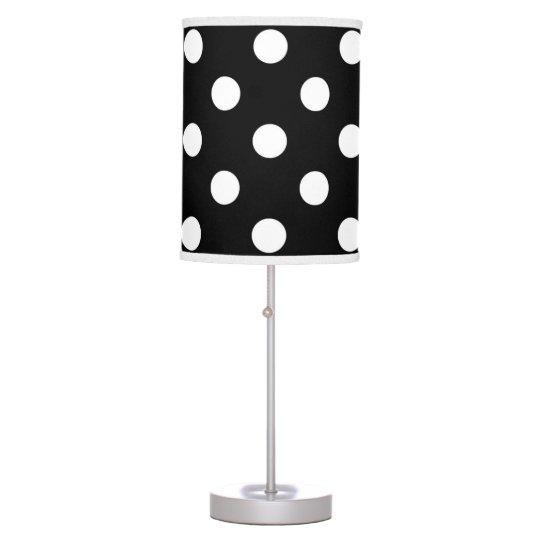 Black White Large Polka Dot Pattern Desk Lamp Zazzle Com