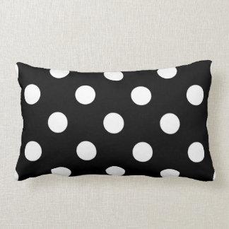 Black White Large Polka Dot Pattern Throw Pillow