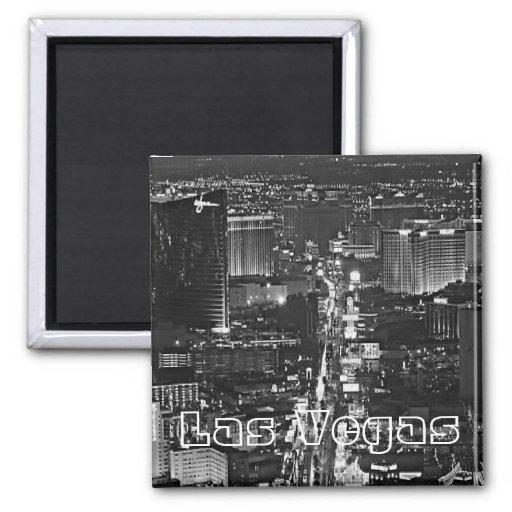 Black & White Las Vegas Magnet